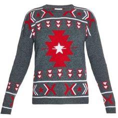 Banjo & Matilda Crew-neck intarsia-knit sweater