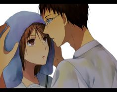 Riko Aida and Junpei Hyuga from Kuroko no Basuke.  They're not a couple but ya, in my imagination they  would be so cute together ^-^