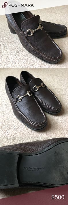 Men's Salvatore Ferragamo Loafers Nice quality loafer Leather is in very good condition  Great formal/casual loafer The size is 10 1/2 Salvatore Ferragamo Shoes Loafers & Slip-Ons