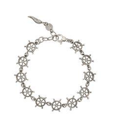 Bracciale da uomo in argento con timoni by Giovanni Raspini