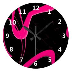 Beautiful fractal design features pink heart floating on a blackish background. Source: Pink Heart Fractal with White Numbers Wall Clock | Zazzle