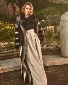 Chinchilla Fur, Fur Fashion, Furs, Passion, Beauty, Dresses, Vestidos, Fur, Dress