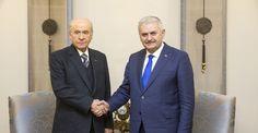 Başbakan Binali Yıldırım ile Devlet Bahçeli görüşmesi sona erdi