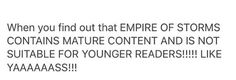 Ugh, really? what about all the younger readers who are already hooked on the series? Or the adult fans(me) who actually like non-smutty books? Throne of glass by Sarah J Maas