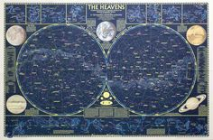 Vintage map of the heavens Sky Gazing, Astronomy Photography, Star Maps, Physical Comedy, Star Chart, Hero's Journey, Print Print, Moonchild, Milky Way
