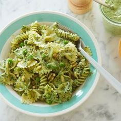 Inas Pasta, Pesto, and Peas. I've been making this for years. One of the best recipes!                                                                                                                                                     More