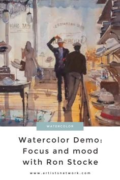 Learn techniques about focus and mood as Ron Stocke paints a watercolor of a stylish hatmaker's shop. Link in our bio! Watercolor Painting Techniques, Watercolor Paintings, Hat Shop, Online Gallery, Medium Art, Mood, Portrait, Stylish, Link