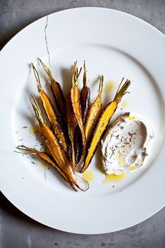 Roasted Carrots & Creme Fraiche Tsa'atar by tartelette