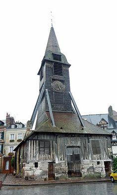 Bell Tower Sainte-Catherine's Church, Honfleur, Normandy  via Nancy Chard