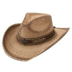 f3e9d22bc7791 Stetson Charlie One Horse Ricochet Palm Burnt Cowboy Hat