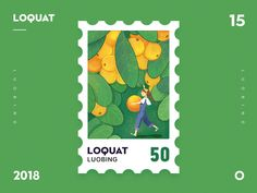 Loquat designed by Luobing for NBSP. Connect with them on Dribbble; the global community for designers and creative professionals. Graphic Design Brochure, Graphic Design Posters, Graphic Design Illustration, Badge Design, Logo Design, Branding Design, Packaging Design Inspiration, Graphic Design Inspiration, Postage Stamp Design