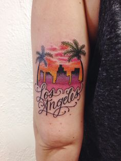 Los Angeles Skyline by Amelia Rose Incognito tattoo, Los Angeles, CA https://www.instagram.com/ameliarosetattoo/