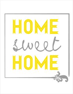 Free home sweet home printable