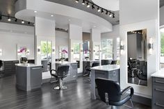 The natural light and clean, glamorous design of Erik Hendrick and Nina Ladd's Lotus Salon in Atlanta makes for perfect color and an always-increasing clientele list.