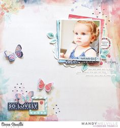 Here's another beautiful layout featuring our new Wild at Heart collection, this time from designer Mandy. She has used the stunning 'Artisan' paper as the background for her page, and it provides the perfect canvas for this adorable photo of her daughter.  @mandy1980 #cocoavanillastudio #cocoa_vanilla #scrapbook #layout #wildatheart #newcollection #embellishments #papercraft #memorykeeping #paperpretties