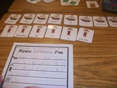 great literacy center. students can pull out a set of words and must form the words into a correct sentence. then they record them. this woman is amazing with centers!!