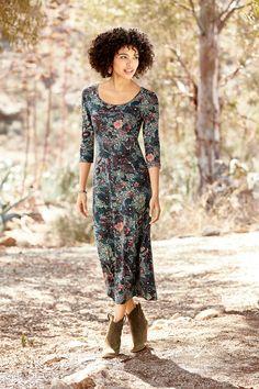 Such a lovely print! Edo Flower Dress, Verdigris Brass Cuff