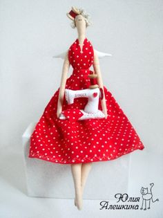 Tilda Sewing Angel: a master class on sewing doll from Julia Aleshkina
