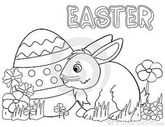 new unique easter bunny pictures to color