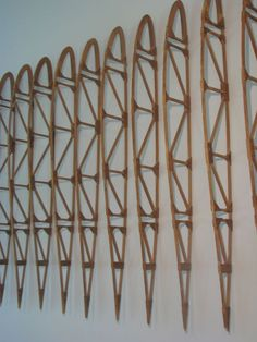Collection of 16 Balsa Wood Model Plane Airplane Ribs image 5