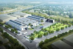 Động thổ nhà máy Sindoh Việt Nam tại KCN Khai Quang tỉnh Vĩnh Phúc Factory Architecture, Concept Architecture, Industrial Park, Industrial House, Warehouse Management System, Lean Manufacturing, Supply Chain Management, Factory Design, New City