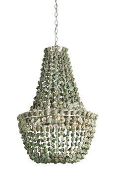 Love this wrought iron and shell fixture called #Quintessa by #currey which is one of my favorite lighting manufacturers