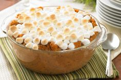 3 cans (15 oz. each) sweet potatoes, drained  1/4 cup butter or margarine, melted  1 tsp. ground cinnamon  1 tsp. ground ginger  1/4 tsp. ground nutmeg  3 cups JET-PUFFED Miniature Marshmallows