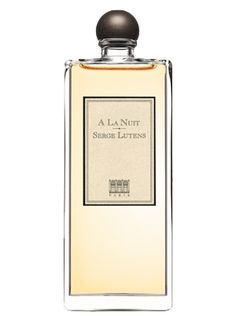 A La Nuit  by Serge Lutens is an animalic, honeyed white Oriental Floral fragrance. It is one of the better fragrances with jasmine in the center of the composition. Several variances of jasmine are combined: Indian, Egyptian and Moroccan. The jasmine blend is accompanied by green branches, grenadine, honey, clove, benzoin, and musk. It starts with intensive jasmine notes, warmed and deepened by benzoin in the base. - Fragrantica <3<3