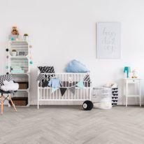 Scandinavian Kids bedroom design decor with Betonsil tile from Terratinta Ceramiche.