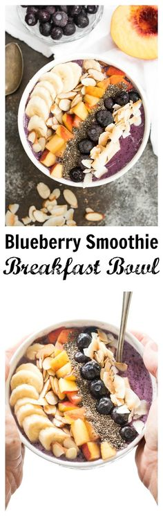 Blueberry Smoothie Breakfast Bowl- a delicious and nourishing bowl that is gluten free, plant based and great for any meal! #ad #goodnessfrozen | www.nutritiouseats.com