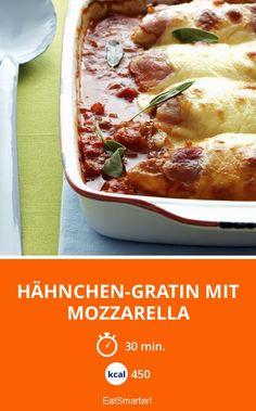 Hähnchen-Gratin mit Mozzarella - smarter - Kalorien: 450 kcal - Zeit: 30 Min. | eatsmarter.de