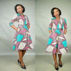 Le+Jade+africain+imprimer+robe+par+FashAfrique+sur+Etsy