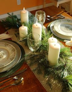 Better Homes & Gardens Table Scape | Chicken Scratch #Christmas #table #DIY