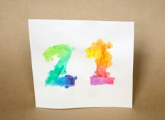 DIY watercolour happy birthday card. Check out the video tutorial by TheSorryGirls.