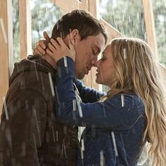 Being kissed in the rain(: