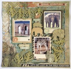 """<p>Hi there! I have so many photos taken at the Zoo it was a joy be able to use the wonderful Into the Wild collection. For this layout I didn't want to cover the lovely paper, so taped with strong tape a sheet of Savannah over a sheet of Safari. I then gently <a href="""" http://www.merlyimpressions.co.uk/blog/project-portfolio/scrapbooking/animal-adventures-using-into-the-wild/ """"> …click to read more</a></p>"""