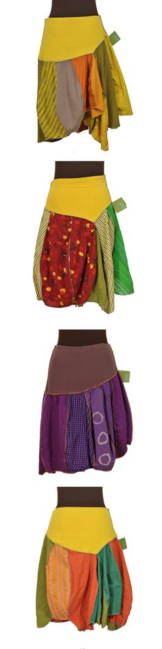 Secret Lentil skirts: Handmade, upcycled, garment-dyed.