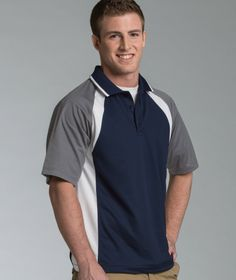 Men's Ares Button Polo from Charles River