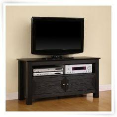 Walker Edison 44-in. Cortez Wood TV Console - Black