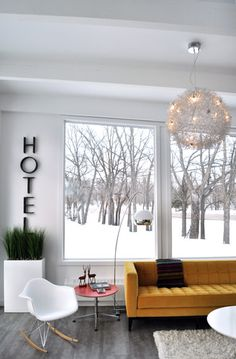 pop of color against a snowy background.  Scandanavian Style Design, Pictures, Remodel, Decor and Ideas - page 4