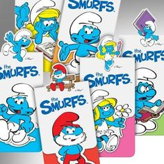 The Smurfs !!! Magnetic bookmarks