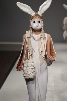 Masque de lapin de Kim Traeger.