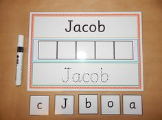I can Write and Spell my Name Personalised Name Card EYFS