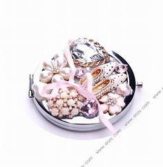 Cinderella's Glass Slipper Series Makeup Pocket Portable A Fold Mini Pocket Mirror #eozy