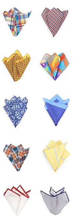 The best pocket squares for Spring!