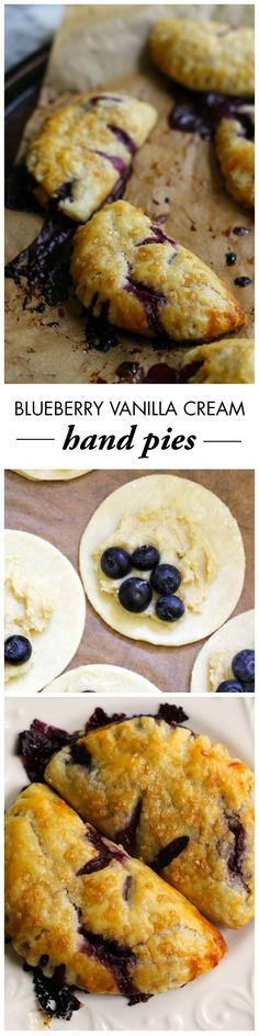 Your friends and family will love picking up these on-trend Blueberry Vanilla Cream Hand Pies off of the dessert table at your next party! They will love the gooey, sweet center combined with the flaky, buttery crust in this recipe.