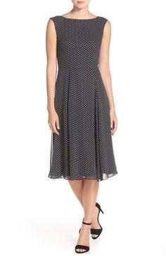 Betsey Johnson Polka Dot Chiffon Midi Dress available at #Nordstrom