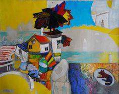 Revaz Kvaratskheliya Sukhumi, The Black Sea region, georgia; son of the artist Alexei Kvaratskheliya) Daily Pictures, Black Sea, Georgia, Contemporary Art, Art Gallery, Stray Dog, Artist, Painting, Art Museum