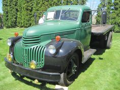 1943 flatbed; Not many trucks made during WWII and this one had US Navy markings in the cab - ATHS 2013