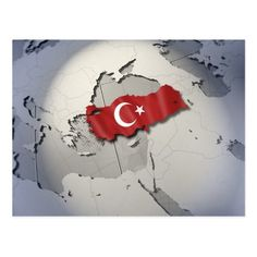 Shop Flag of Turkey Postcard created by prophoto. Turkey Football Team, Turkey Flag, Create Your Own, Create Yourself, Lion Wallpaper, Political Events, Instagram Highlight Icons, National Flag, Postcard Size